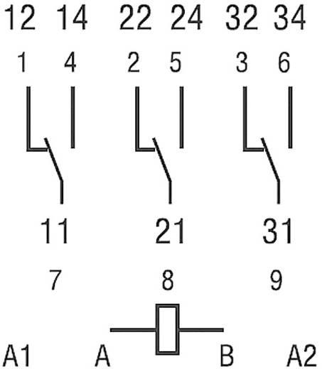 Steckrelais 24 V/DC 16 A 3 Wechsler Finder 62.33.9.024.0040 1 St.
