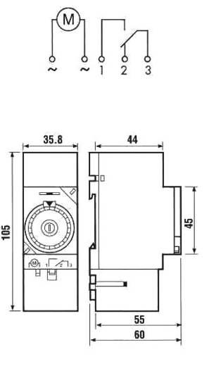 zeitschaltuhr f r hutschiene betriebsspannung 230 v ac. Black Bedroom Furniture Sets. Home Design Ideas