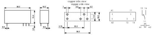 Printrelais 12 V/DC 10 A 1 Wechsler Finder 43.41.7.012.0000 1 St.
