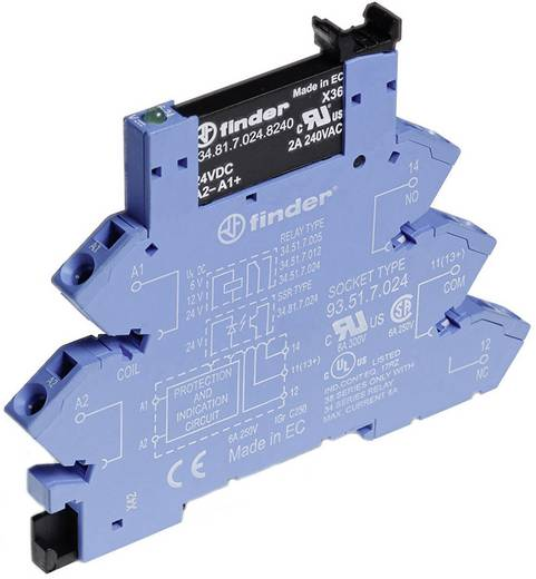 Halbleiterrelais 1 St. Finder 38.91.7.024.9024 Last-Strom (max.): 2 A Schaltspannung (max.): 24 V/DC