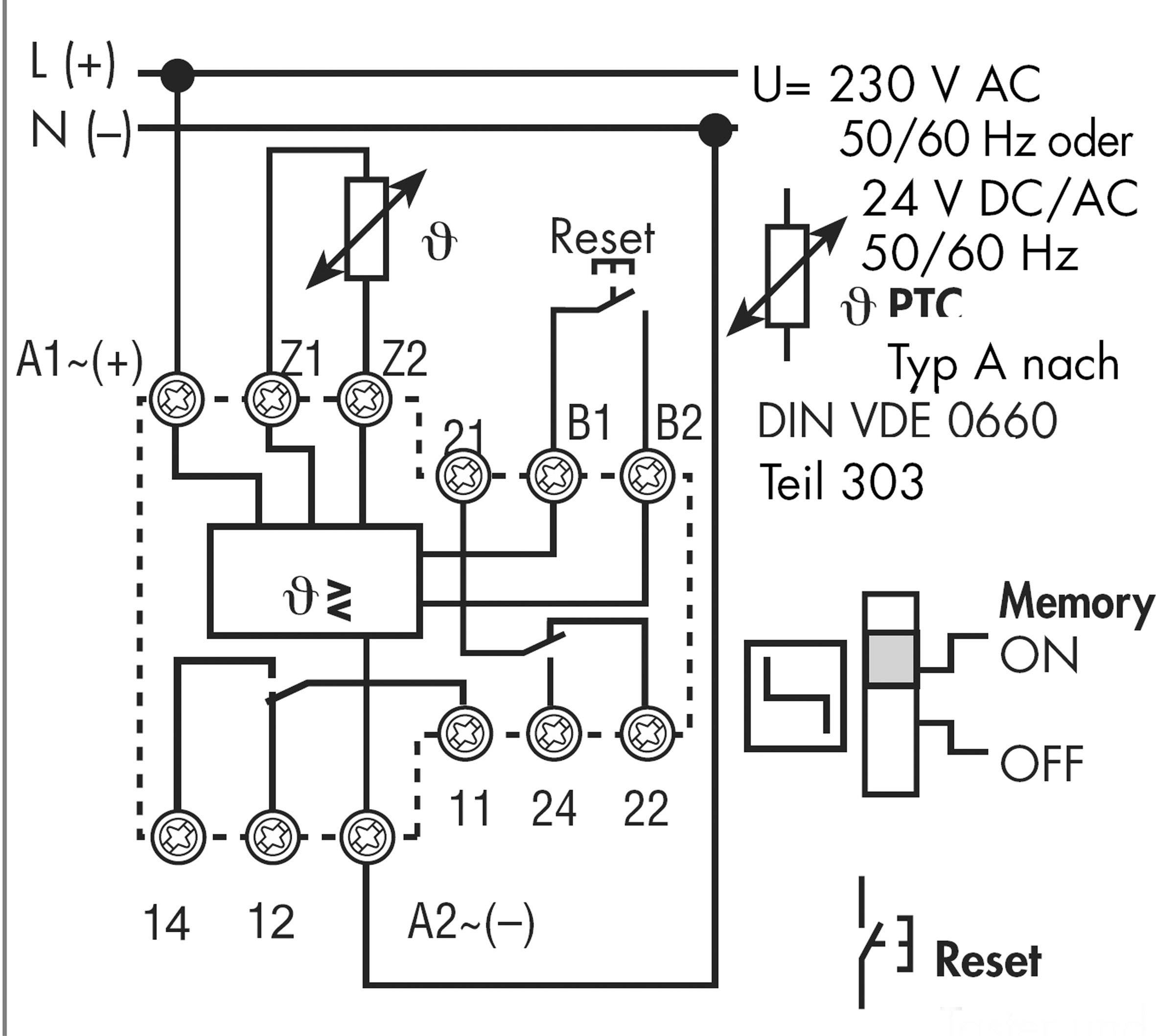 Thermistor Relay Circuit Diagram Finder 719200240001 With Fault Memory