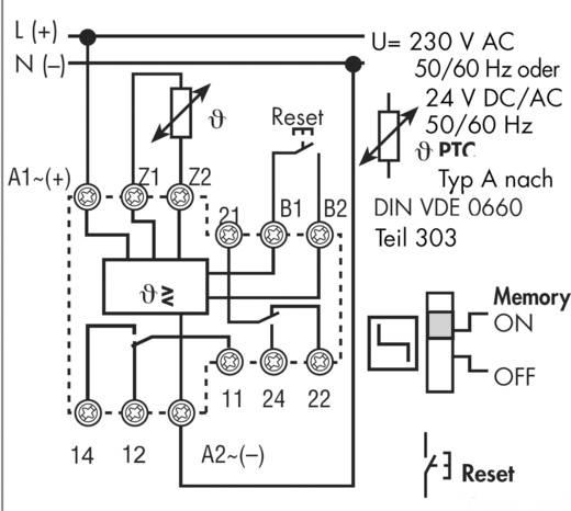 Überwachungsrelais 230 V/AC 2 Wechsler 1 St. Finder 71.92.8.230.0001 Temperatur