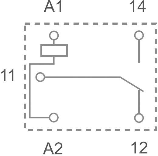 Printrelais 5 V/DC 10 A 1 Wechsler Finder 36.11.9.005.4011 1 St.