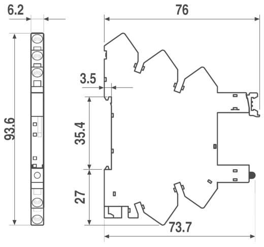 Relaissockel 1 St. Finder 93.11.7.024 = 93.51.7.024 Passend für Serie: Finder Serie 34 Finder 34.51, Finder 34.81 (L x