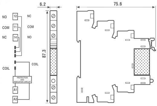 Halbleiterrelais 1 St. Finder 38.81.7.024.8240 Last-Strom (max.): 2 A Schaltspannung (max.): 240 V/AC