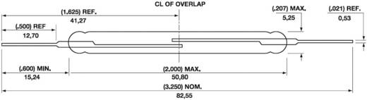 Reed-Kontakt 1 Schließer 400 V/DC 3 A 100 W Glaskolbenlänge:50.8 mm Hamlin DRR-129