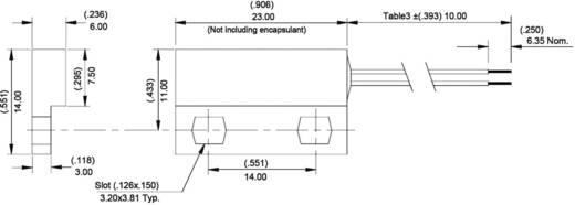 Reed-Kontakt 1 Wechsler 175 V/DC 0.25 A 5 W Hamlin 59140-3-02-A