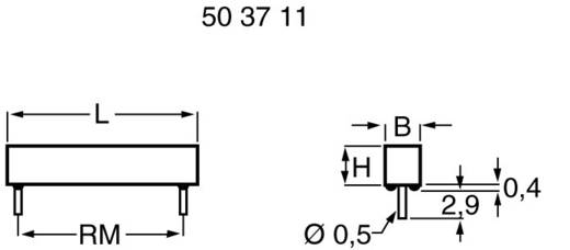 Reed-Kontakt 1 Schließer 150 V/DC, 120 V/AC 0.5 A 10 W PIC MS-105-3-2