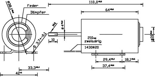 Hubmagnet drückend 2 N 42 N 24 V/DC 16.8 W Tremba ZMF-3864d.002-24VDC,100%