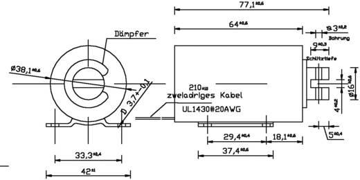 Hubmagnet ziehend 2 N 42 N 12 V/DC 16.8 W ZMF-3864z.001-12VDC,100%