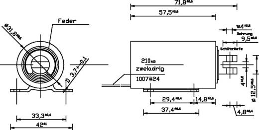 Hubmagnet ziehend 0.2 N 45 N 24 V/DC 13 W Tremba ZMF-3258z.001-24VDC,100%