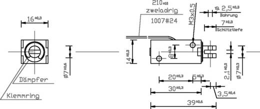Hubmagnet ziehend 0.1 N 5.8 N 24 V/DC 2 W Tremba HMF-1614z.002-24VDC,100%