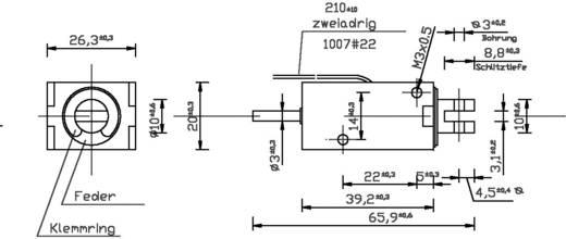 Hubmagnet drückend 0.8 N 8 N 24 V/DC 3.8 W HMF-2620-39d.002-24VDC,100%