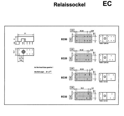 Relaissockel 1 St. EC 50 (L x B x H) 31 x 12.7 x 9 mm