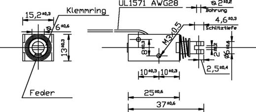 Hubmagnet ziehend 0.1 N 10 N 12 V/DC 2.5 W Tremba HMA-1513z.002-12VDC,100%