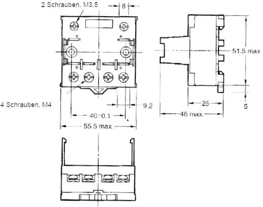 Relaissockel 1 St. Omron P7LF-06 Passend für Serie: Omron Serie G7L (L x B x H) 55.5 x 56.5 x 35.2 mm