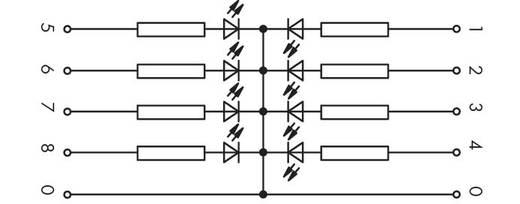 LED-Gatterbaustein 1 St. WAGO 286-822 Passend für Serie: Wago Serie 280 Passend für Modell: Wago 280-629, Wago 280-639