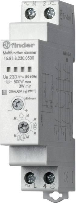 Stmívač na DIN lištu Finder 15.81.8.230.0500, 1 spínací kontakt, 230 V/AC, 500 W