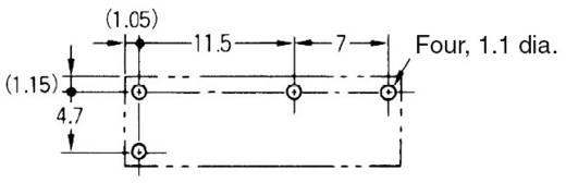 Printrelais 12 V/DC 5 A 1 Schließer Omron G5NB-1A-E 12DC 1 St.