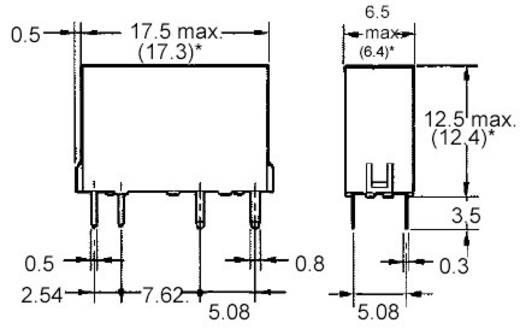 Printrelais 12 V/DC 5 A 1 Schließer Omron G6D-1A-ASI 12DC 1 St.