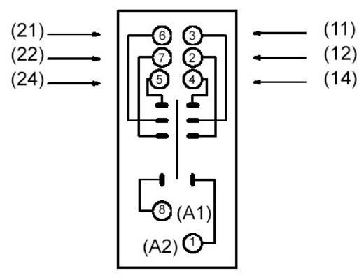 Relaissockel 1 St. Omron P2RF-08E (für G2R-2-S) Passend für Serie: Omron Serie G2R