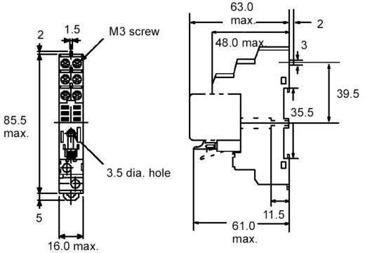 Relaissockel 1 St. Omron P2RF-08E Passend für Serie: Omron Serie G2R