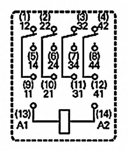 Printrelais 230 V/AC 6 A 4 Wechsler TE Connectivity PT570730 1 St.