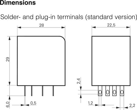 Printrelais 12 V/DC 6 A 4 Wechsler TE Connectivity PT570012 1 St.
