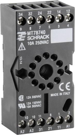 Relaissockel 1 St. TE Connectivity MT78740 = ES 12 Passend für Serie: TE Connectivity Serie MT (L x B x H) 75 x 38 x 2