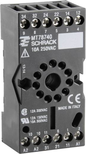 Relaissockel 1 St. TE Connectivity MT78740 = ES 12 Passend für Serie: TE Connectivity Serie MT (L x B x H) 75 x 38 x 26 mm