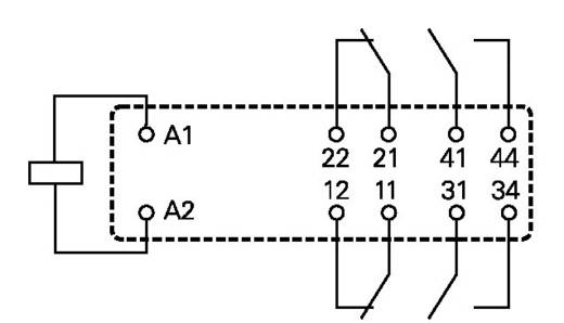 Printrelais 24 V/DC 8 A 2 Schließer, 2 Öffner TE Connectivity SR4D4024 1 St.