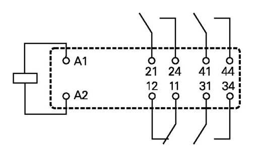 Printrelais 24 V/DC 8 A 3 Schließer, 1 Öffner TE Connectivity SR4M4024 1 St.