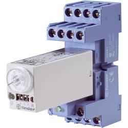 Multifunkční časové relé, série 85.04 Finder 12 V DC/AC 4 přepínací kontakty