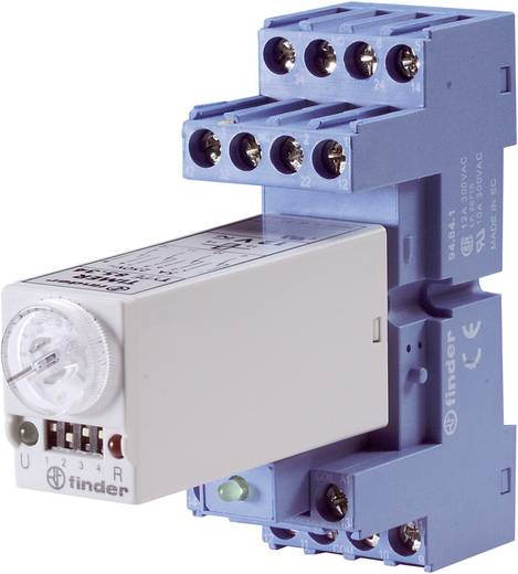 Zeitrelais Multifunktional 24 V/DC, 24 V/AC 1 St. Finder 85.04.0.024 Zeitbereich: 0.05 s - 100 h 4 Wechsler