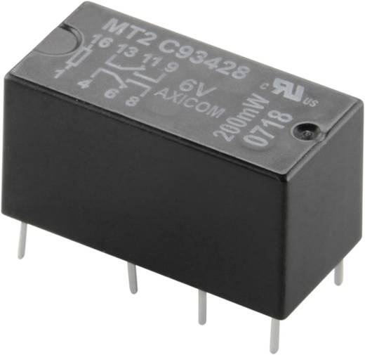 Printrelais 6 V/DC 2 A 2 Wechsler TE Connectivity C93428 1 St.