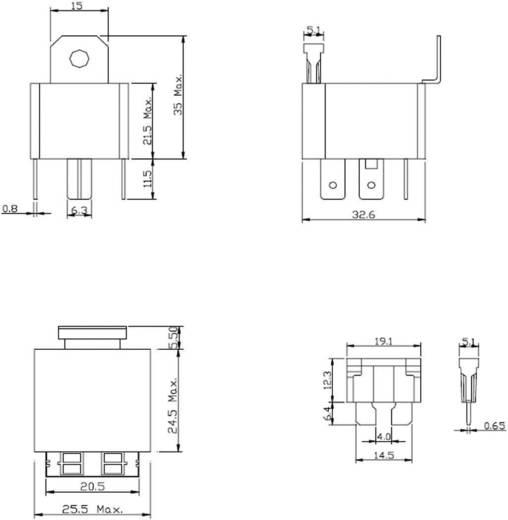 Kfz-Relais 12 V/DC 30 A 1 Schließer FiC FRC5BA-DC12V