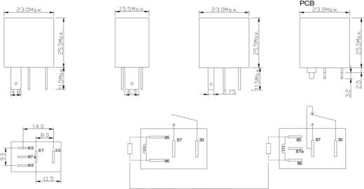 Kfz-Relais 12 V/DC 25 A 1 Wechsler FiC FRC7C-S-DC12V