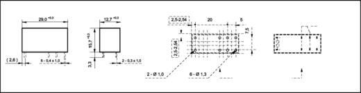 Printrelais 24 V/DC 16 A 1 Wechsler Fujitsu FTR-K1CK024W 1 St.