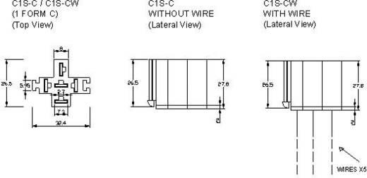 Kfz-Relaissockel 1 St. C1S-CW (L x B x H) 26.5 x 32.4 x 27.8 mm