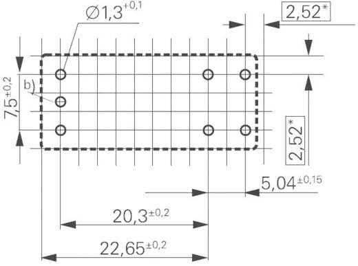 Printrelais 12 V/DC 16 A 1 Schließer TE Connectivity RTS3L012 1 St.