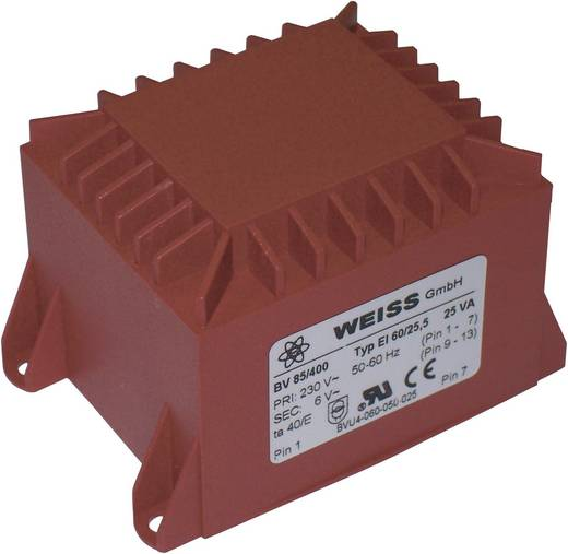 Printtransformator 1 x 230 V 1 x 12 V/AC 25 VA 2083 mA 85/402 Weiss Elektrotechnik