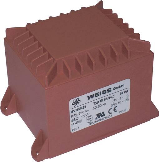 Printtransformator 1 x 230 V 1 x 15 V/AC 50 VA 3.34 A 85/423 Weiss Elektrotechnik