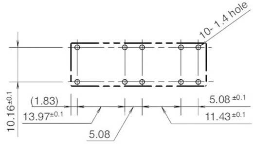 Printrelais 24 V/DC 6 A 3 Schließer, 1 Öffner Idec RF1V-3A1BL-D24 1 St.