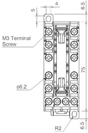 Relaissockel 1 St. Idec SF1V-6-07L Passend für Serie: Idec Serie RF1V (L x B x H) 75 x 29.8 x 58.9 mm