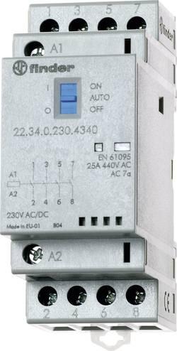 Contacteur modulaire 2NO (T) / 2 NC (R) (30/110/220 V) 25/5/1 A Finder 22.34.0.024.4640