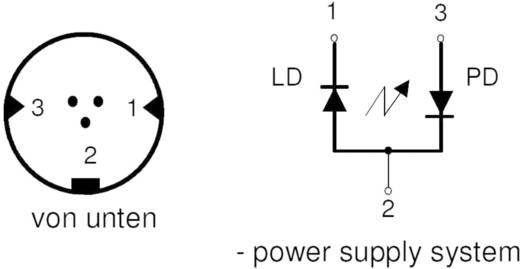 Laserdiode Rot 635 nm 2 mW IMM Photonics IMK-0714-E-K-U-LD-630551A