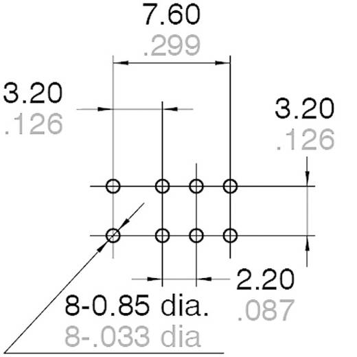 Printrelais 4.5 V/DC 1 A 2 Wechsler Panasonic AGN2104H 1 St.