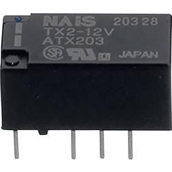 Relé do DPS Panasonic TX2L25 Print, 5 V/DC, 2 A, 2 prepínacie, 1 ks