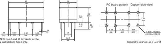 Printrelais 12 V/DC 1 A 1 Wechsler Panasonic DR12SDS 1 St.