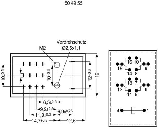 Steckrelais 12 V/DC 1 A 4 Wechsler PR16 L 07 1 St.
